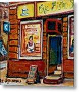 Cafe Bistro St. Viateur Metal Print