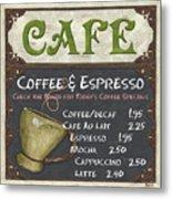 Cafe Chalkboard Metal Print