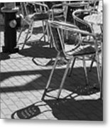 Cafe Hydrant Metal Print