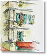 Cafe In Arles Metal Print