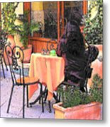 Cafe In Montepulciano Tuscany Metal Print