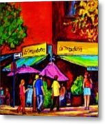 Cafe La Moulerie On Bernard Metal Print