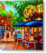 Cafe On Prince Arthur  In Montreal  Metal Print