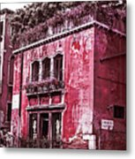 Cafe On The Canal Metal Print