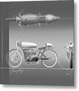Cafe Racer Metal Print by Jeremy Lacy