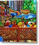 Cafe Second Cup Metal Print