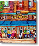 Cafe Second Cup Terrace Metal Print