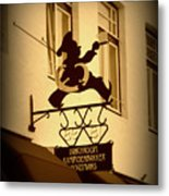 Cafe Sign In Holland Metal Print