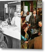 Cafe - Temptations 1915 - Side By Side Metal Print