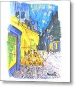 Cafe Terrace At Night - Van Gogh Metal Print