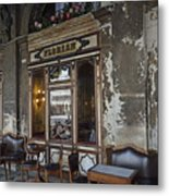 Cafe Terrace On Piazza San Marco Metal Print