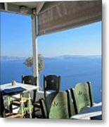 Cafe' With A View Metal Print