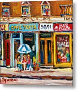 Cafe Yenta And Ma's Place Metal Print