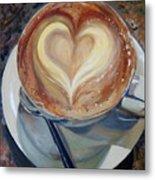 Caffe Vero's Heart Metal Print