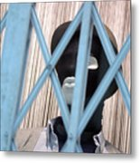 Caged In The Land Of Pasta Metal Print
