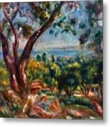 Cagnes Landscape With Woman And Child 1910 Metal Print