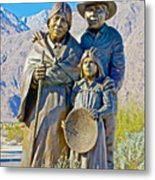 Cahuilla Band Of Agua Caliente Indians Sculpture On Tahquitz Canyon Way In Palm Springs-california Metal Print