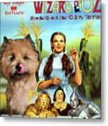 Cairn Terrier Art Canvas Print - The Wizard Of Oz Movie Poster Metal Print