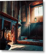 Cairo, Egypt -  Interior Of A Room In The Famous Bayt Al Suhaymi Located At Al Muizz Street In Cairo Metal Print