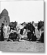 Cairo: Group Of Camels Metal Print