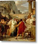 Caius Furius Cressinus Accused Of Sorcery Metal Print