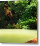 Caldeira Velha Thermal Pool Metal Print