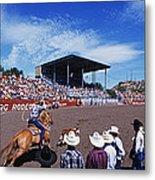 Calf Roping Event At Ellensburg Rodeo Metal Print