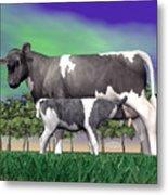 Calf Suckling - 3d Render Metal Print