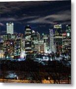 Calgary Skyline At Night Metal Print