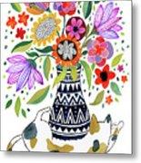 Calico Bouquet Metal Print