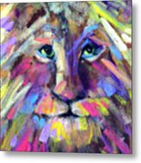 Calico Cat Metal Print