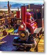Calico Ghost Town Train Metal Print