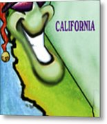 California Christmas Metal Print