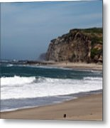 California Coast - Blue Metal Print