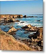California Coast Rocky Cliffs Metal Print