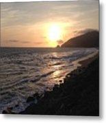California Coast Sunset At Dunes Metal Print