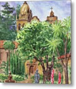 California Mission Carmel Basilica Metal Print