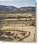 California Oil Field 14pdxl084 Metal Print