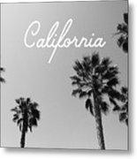 California Palm Trees By Linda Woods Metal Print