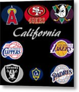 California Professional Sport Teams Collage  Metal Print