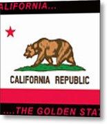 California State Flag Metal Print