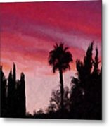 California Sunset Painting 1 Metal Print