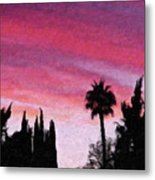 California Sunset Painting 2 Metal Print