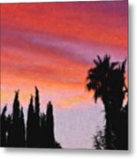 California Sunset Painting 3 Metal Print