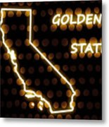 California - The Golden State Metal Print