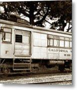 California Western  M 100 Gas Railcar  Skunk Train  Circa 1930 Metal Print