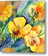 California's Poppies Metal Print