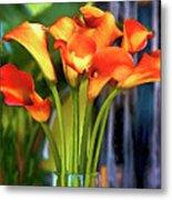 Calla Lilies Bouquet Metal Print