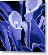 Calla Lilies Royal Metal Print