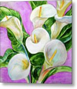 Calla Lillies 3 Metal Print